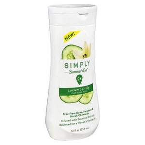 Simply Summer's Eve Cleansing Wash Cucumber Lily 12 Oz by Summers Eve (4754258821205)
