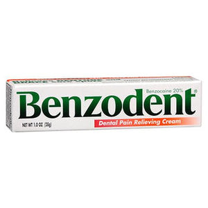 Benzodent Dental Pain Relieving Cream 1 Oz by Benzodent (4754260394069)