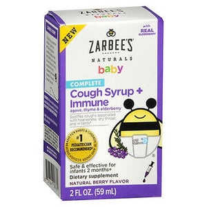Zarbee's Naturals Baby Complete Cough Syrup + Immune Natural Berry Flavor 2 Oz by Zarbees (4754260983893)