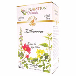 Bilberries Organic Tea 24 Bags by Celebration Herbals (4754275237973)
