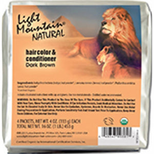 Natural Hair Color & Conditioner Dark Brown 16 Oz by Light Mountain (4754276188245)