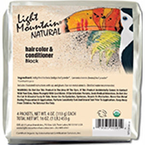 Natural Hair Color & Conditioner Black 16 Oz by Light Mountain (4754276221013)