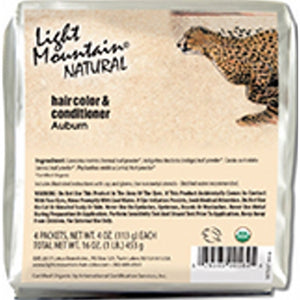 Natural Hair Color & Conditioner Auburn 16 Oz by Light Mountain (4754276286549)