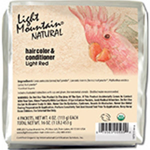Natural Hair Color & Conditioner Light Red 16 Oz by Light Mountain (4754276417621)