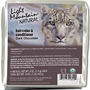 Natural Hair Color & Conditioner Dark Chocolate 16 Oz by Light Mountain (4754276581461)