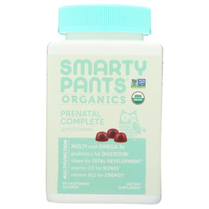 Prenatal Complete Multivitamin 90 Vegetarian Gummies by SmartyPants (4754286772309)