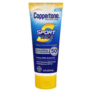 Coppertone Sport Face Sunscreen Lotion SPF 50 2.5 Oz by Coppertone (4754291851349)