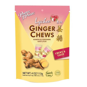 Ginger Chews Lychee 4 Oz by Prince Of Peace (4754300862549)