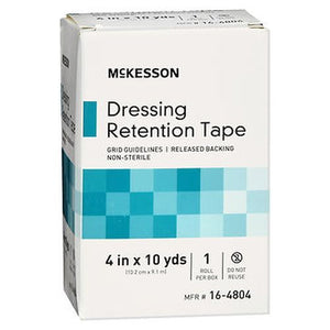 McKesson Dressing Retention Tape Roll 4 in x 10 yds 1 Each by McKesson (4754310103125)