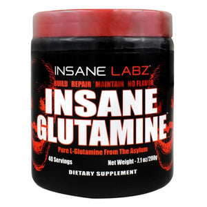 Insane Glutamine Unflavor 7.1 Oz by Insane Labz (4754311872597)