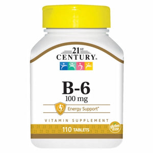 Vitamin B-6 110 Tabs by 21st Century (4754318196821)