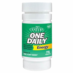 One Daily Energy 75 Tabs by 21st Century (4754321637461)