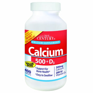 Calcium Plus Vitamin D3 400 Tabs by 21st Century (4754323079253)
