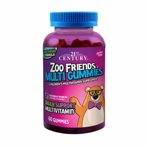 Zoo Friends Multi Gummies 60 Gummies by 21st Century (4754323865685)