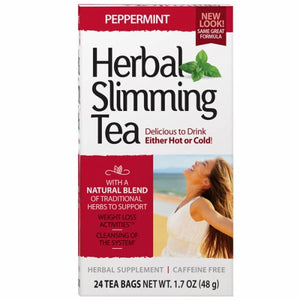 Herbal Slimming Tea Peppermint 24 Bags by 21st Century (4754323931221)