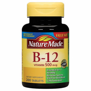 Vitamin B-12 200 Tabs by Nature Made (4754324717653)