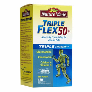Tripleflex Triple Strength 50+ 120 Caplets by Nature Made (4754325569621)