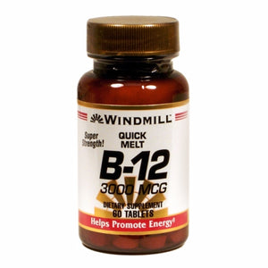Vitamin B12 60 Tabs by Windmill Health Products