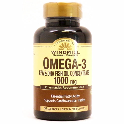 Omega 3 Epa & Dha 60 Soft gels by Windmill Health Products