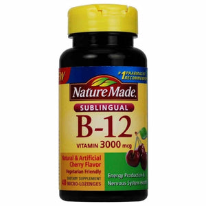 Vitamin B12 Sublingual 40 Lozenges by Nature Made