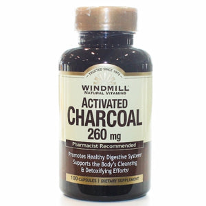 Activated Charcoal 100 Tabs by Windmill Health Products