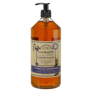 Liquid Hand Soap Lavender Aloe 33.8 Oz by A La Maison (4754329960533)
