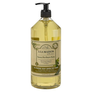 Liquid Hand Soap Rosemary Mint 33.8 Oz by A La Maison (4754329993301)