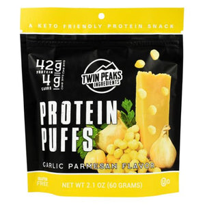 Protein Puffs Garlic Parmesan 12 Each by Twin Peaks Ingredients (4754331074645)