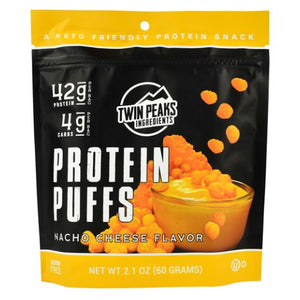 Protein Puffs Nacho Cheese 12 Each by Twin Peaks Ingredients (4754331140181)
