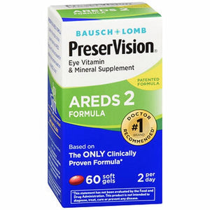 Bausch + Lomb PreserVision Areds 2 Formula Soft Gels 60 Softgels by Bausch And Lomb (4754336022613)