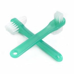 Denture Brush 2 Sided Bristle Green Box of 144 by McKesson (4754339496021)