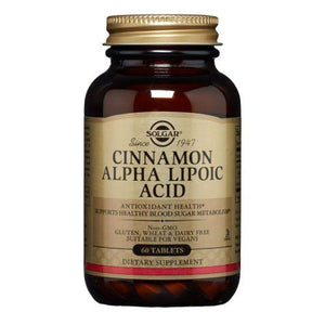 Cinnamon Alpha Lipoic Acid Tablets 60 Tabs by Solgar