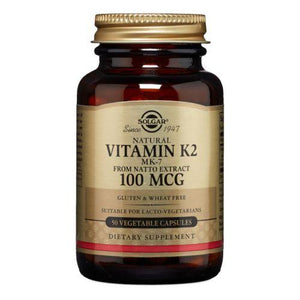 Natural Vitamin K2 (MK-7) 50 V Caps by Solgar