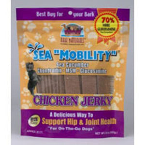 Sea Mobility W-MSM/Gluc/Sea Cucumber Chicken Jerky 22 Strips by Ark Naturals