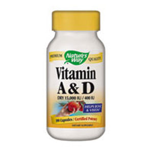 Vitamin A & D 100 Caps by Nature's Way
