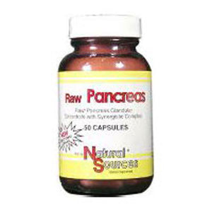Raw Pancreas 50 Caps by Natural Sources