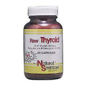 Raw Thyroid 90 Capsules by Natural Sources