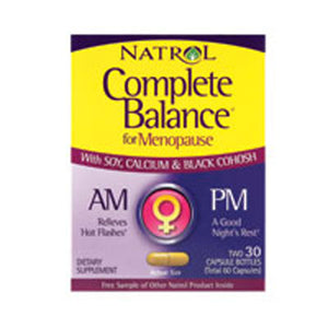 Complete Balance AM/PM Menopause Formula 30AM+30PM Caps by Natrol (2588777513045)