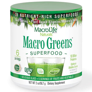 Macro Greens 2 oz by Macrolife Naturals (2588894232661)