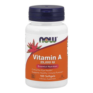 Vitamin A 100 Softgels by Now Foods