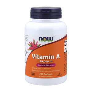 Vitamin A from Fish Liver Oil 250 Softgels by Now Foods