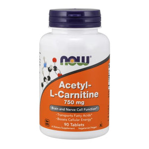 Acetyl-L Carnitine 90 Tabs by Now Foods (2584138448981)