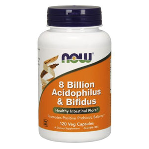 8 Billion Acidophilus & Bifidus 120 Caps by Now Foods