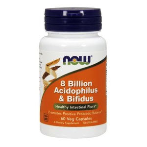 8 Billion Acidophilus & Bifidus 60 Caps by Now Foods