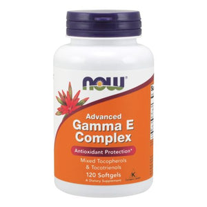 Advanced Gamma E Complex 120 Softgels by Now Foods