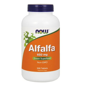 Alfalfa 500 Tabs by Now Foods (2584139169877)