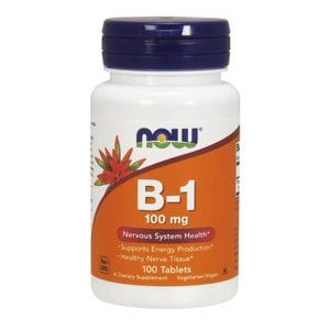 Vitamin B-1 100 Tabs by Now Foods