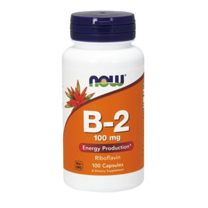 Vitamin B-2 (Riboflavin) 100 Caps by Now Foods (2584141496405)