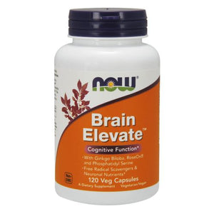 Brain Elevate Formula 120 Veg Capsules by Now Foods