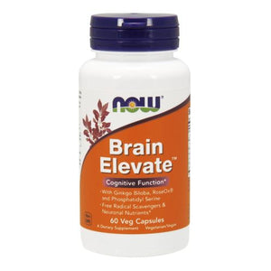 Brain Elevate Formula 60 Veg Capsules by Now Foods